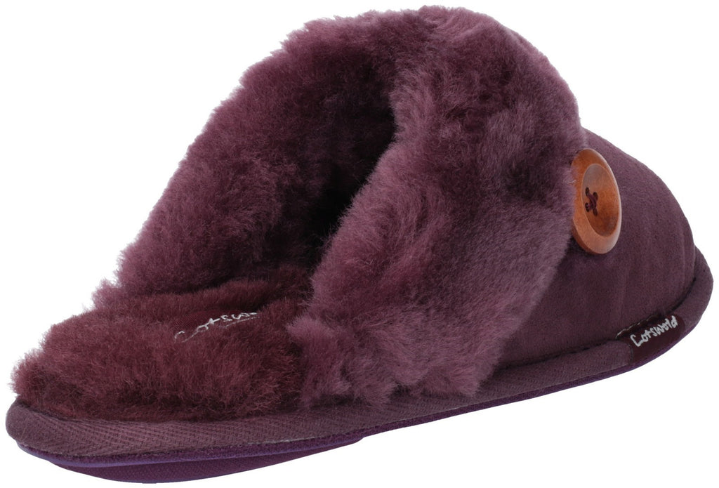 Lechlade Sheepskin Mule Slipper Purple