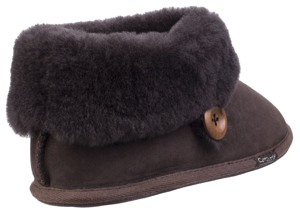 Wotton Sheepskin Bootie Chocolate