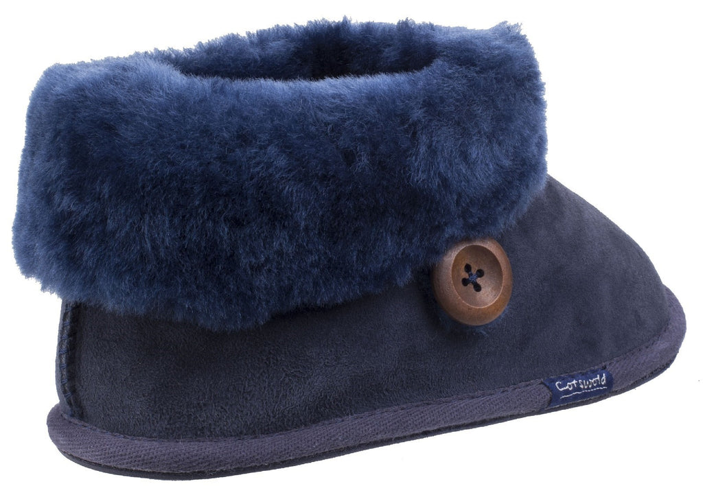 Wotton Sheepskin Bootie Dark Blue