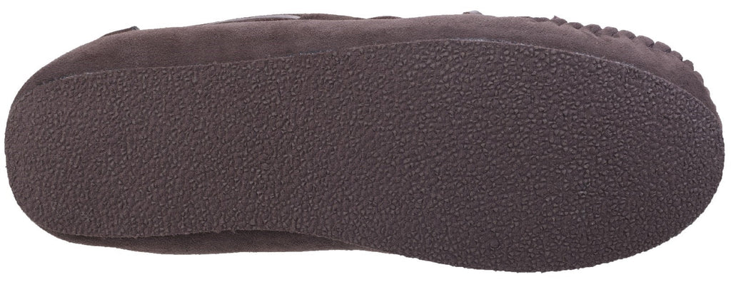 Chastleton Sheepskin Moccasin Slipper Chocolate