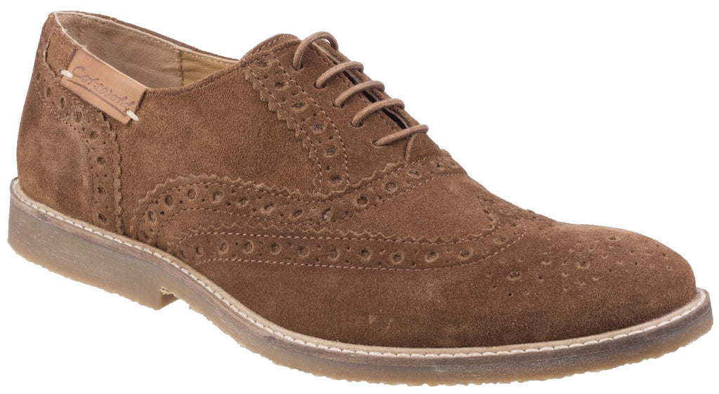Chatsworth Suede Wingtip Shoes Camel