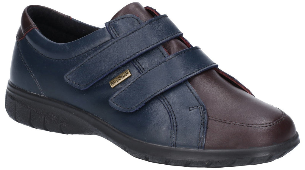 Haythrop Tough Fastening Shoe Navy/Bordo