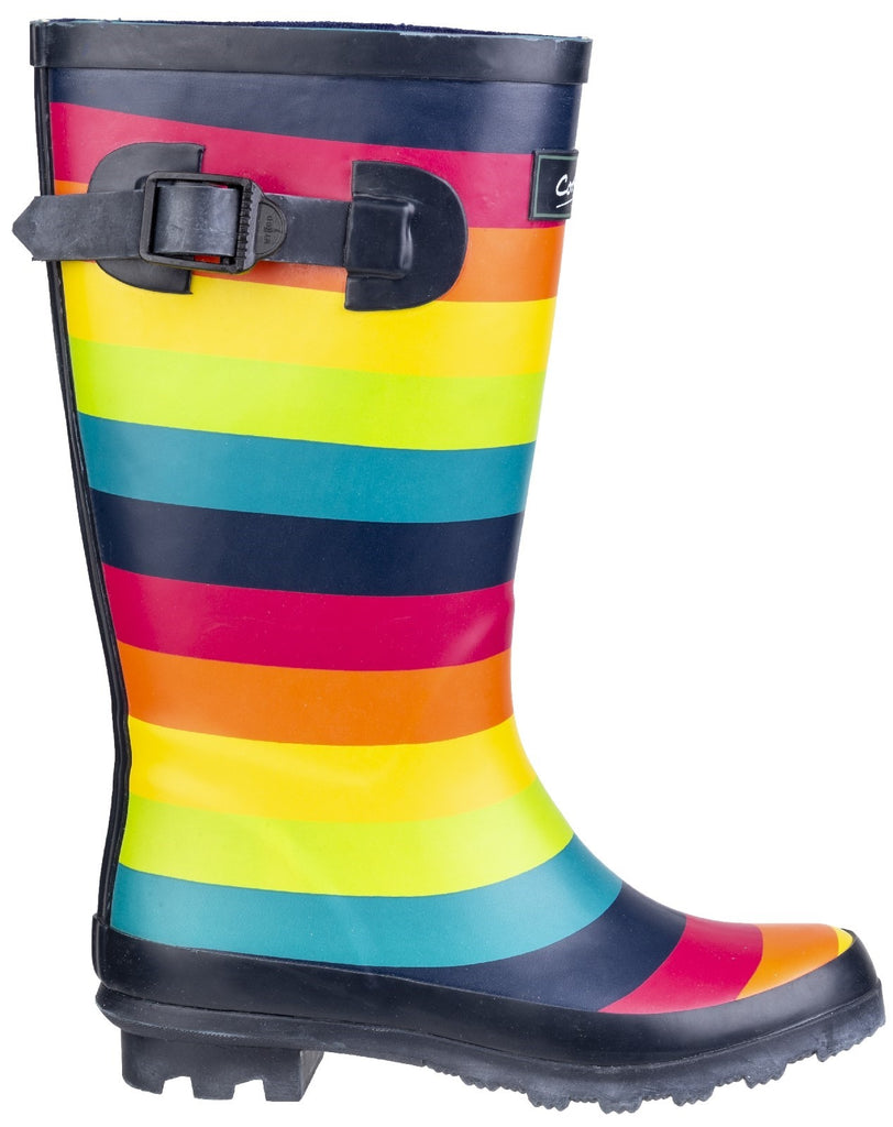 Rainbow Wellington Boot Multicoloured