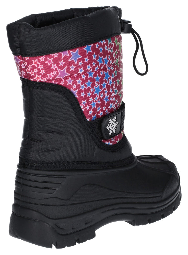 Icicle Toggle Lace Snow Boot Pink