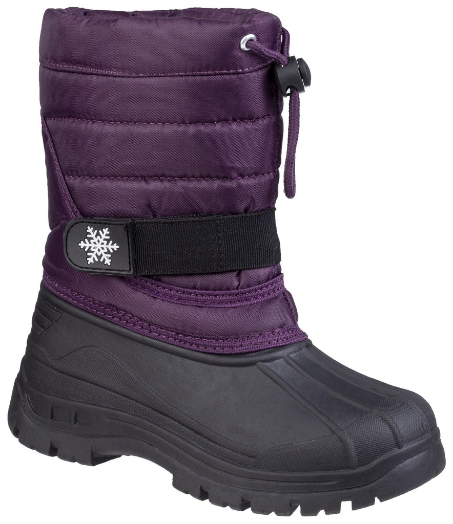 Icicle Toggle Lace Snow Boot Purple