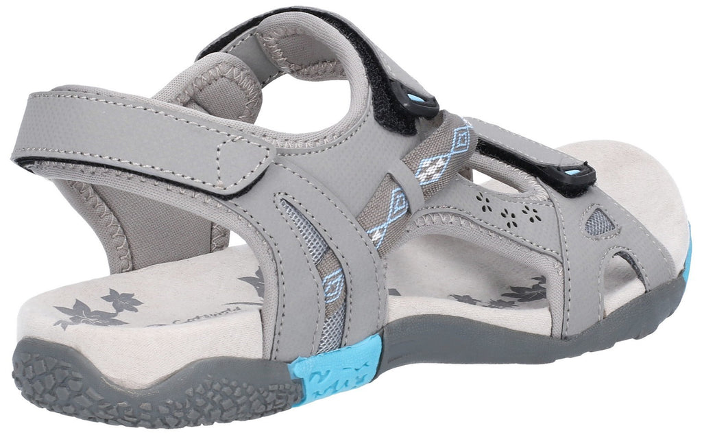 Whichford Touch Fasten Sandal Grey/Light Blue
