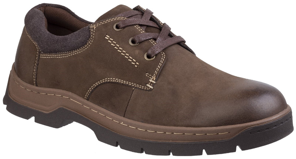 Thickwood Burnished Leather Casual Shoe Brown