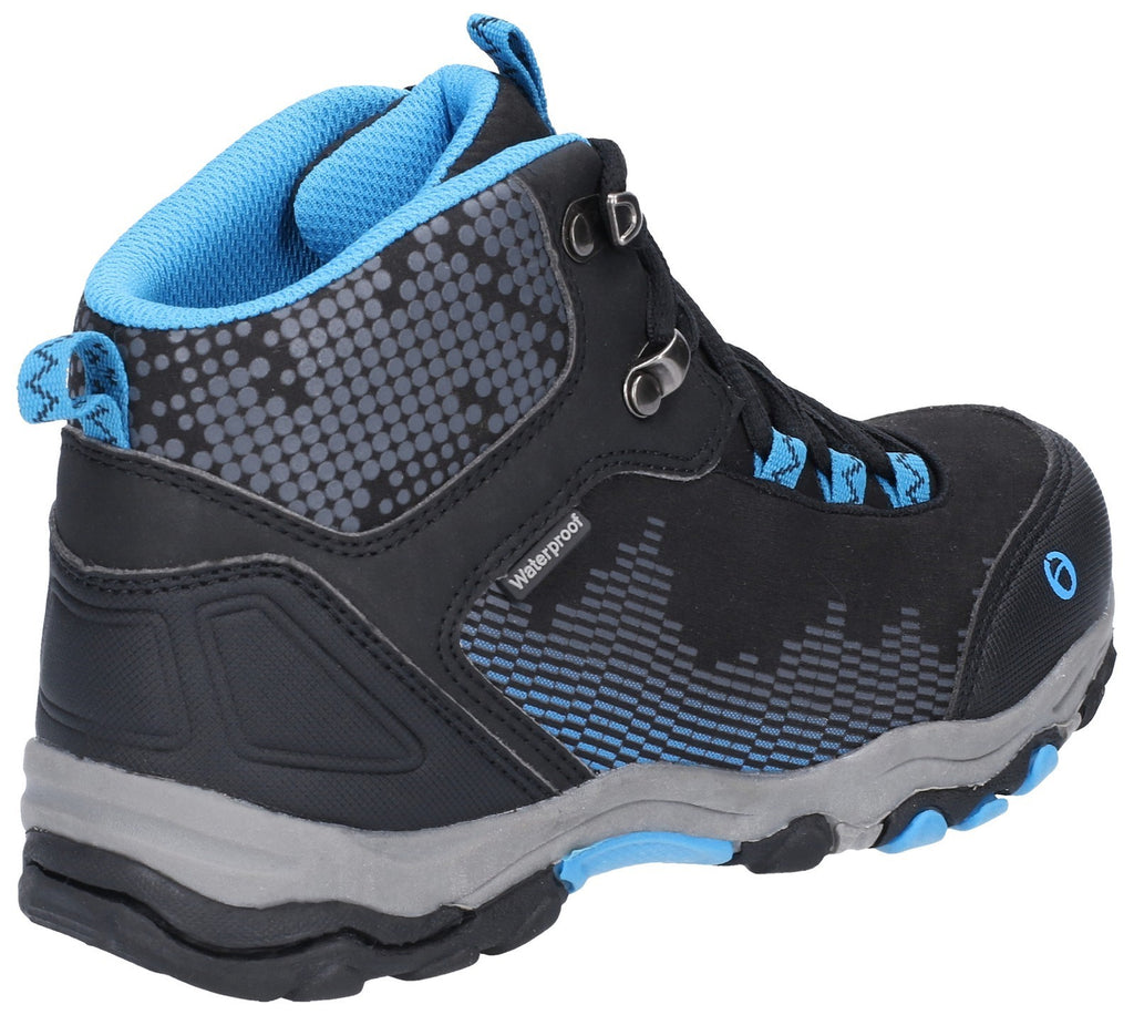 Ducklington Lace Up Hiking Waterproof Boot Black/Blue