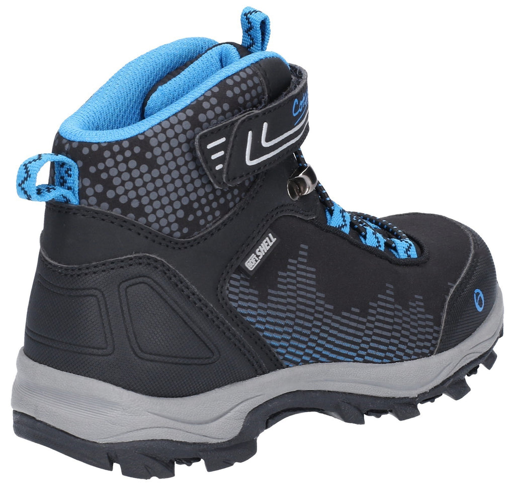 Ducklington Touch Fastening Hiking Waterproof Boot Black/Blue