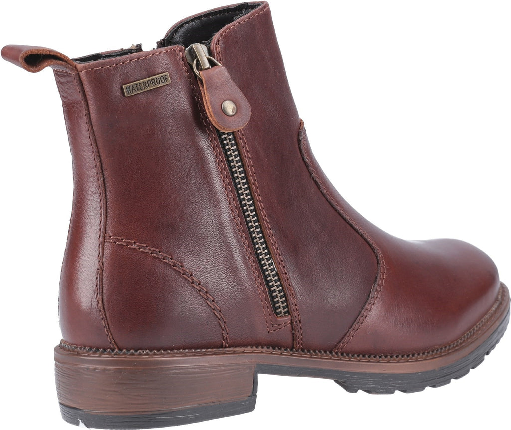 Ashwicke Zip Ankle Boot Brown