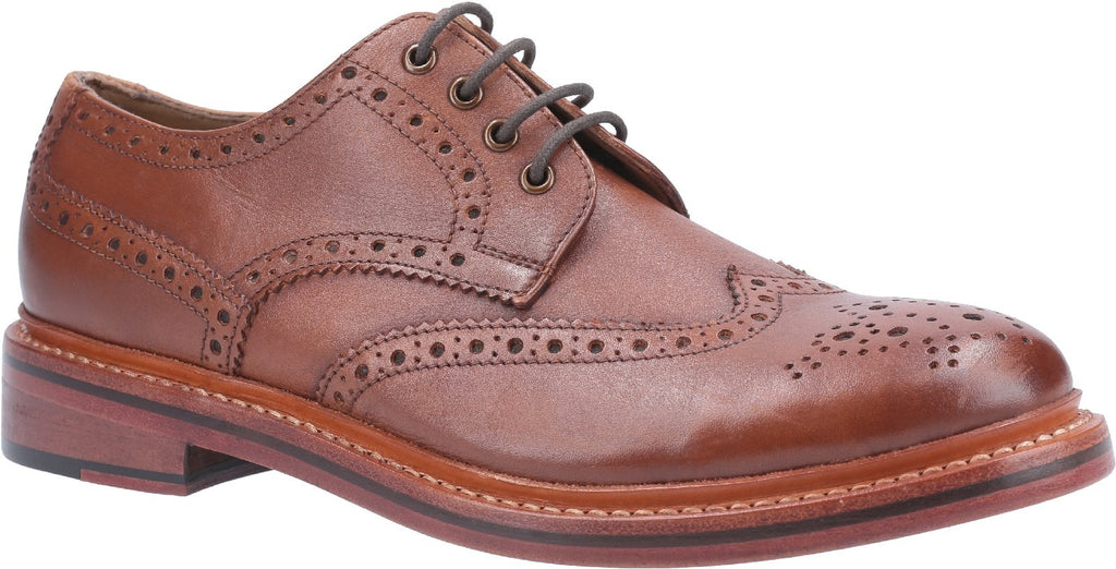 Quenington Leather Goodyear Welt Lace Up Shoe Brown