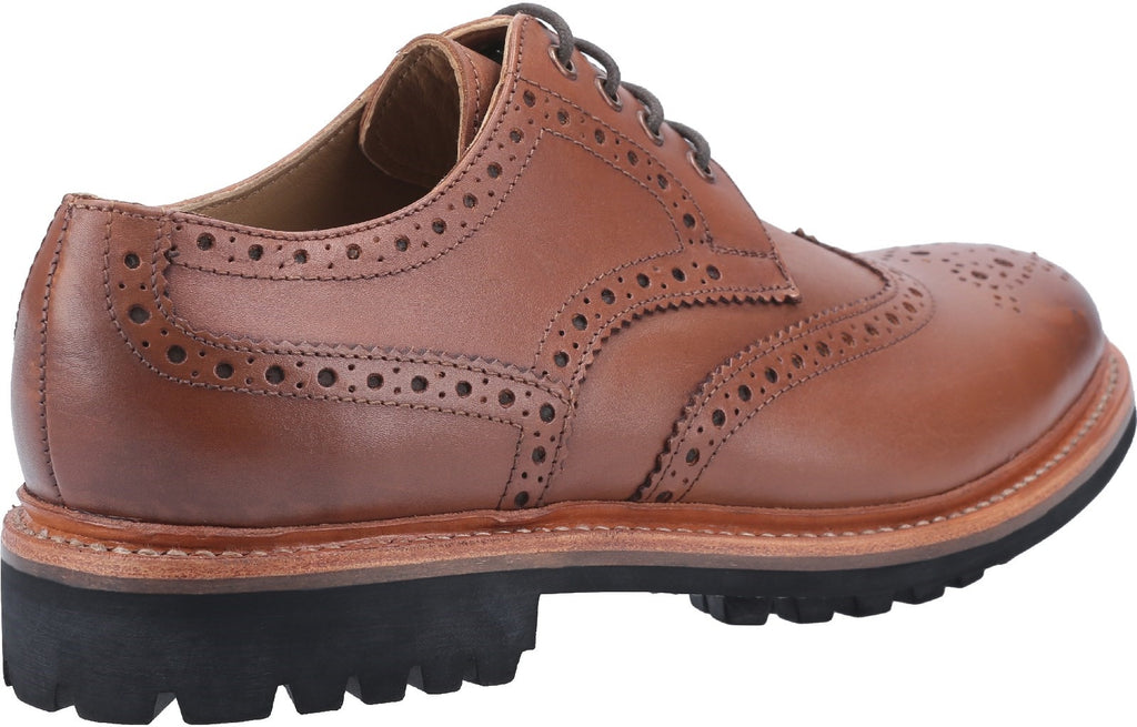 Quenington Commando Goodyear Welt Lace Up Shoe Brown
