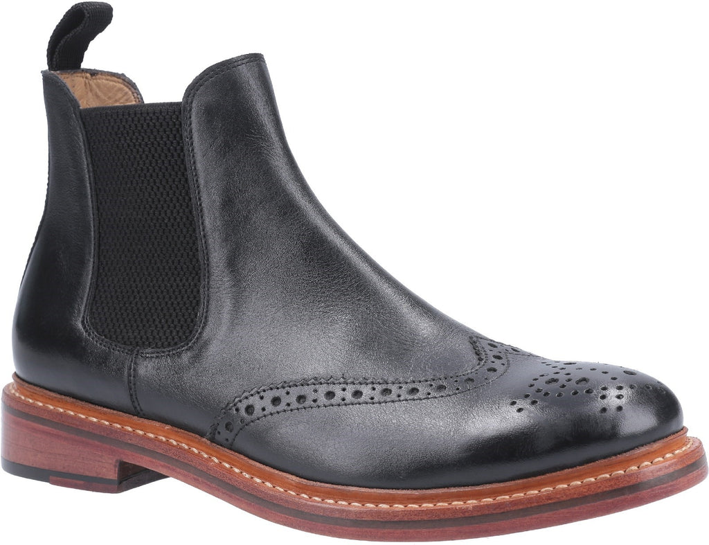 Siddington Leather Goodyear Welt Boot Black