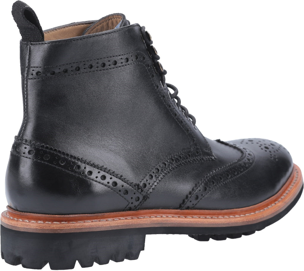 Rissington Commando Goodyear Welt Lace Up Boot Black
