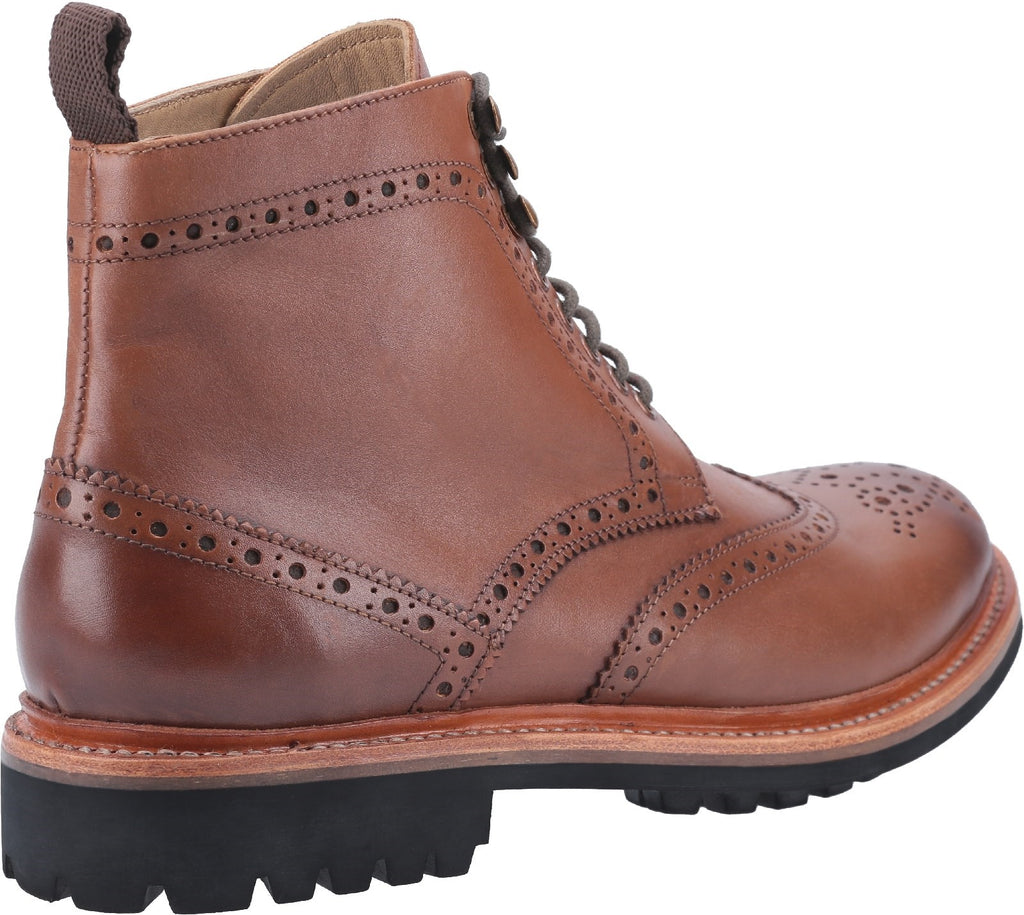 Rissington Commando Goodyear Welt Lace Up Boot Brown