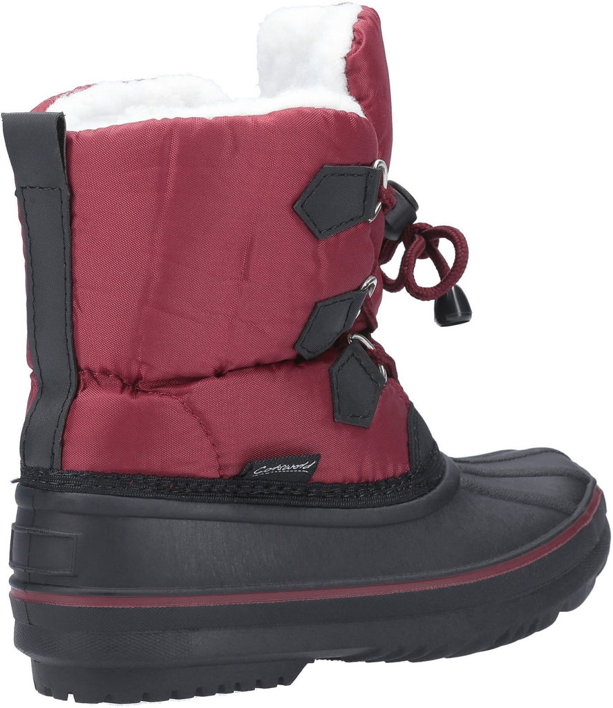 Explorer Bungee Lace Snow Boot Red