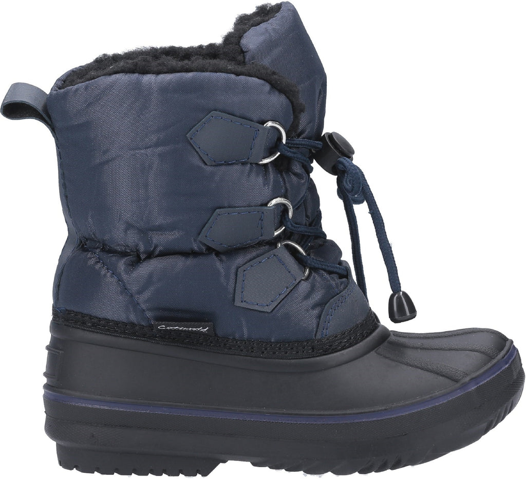 Explorer Bungee Lace Snow Boot Navy