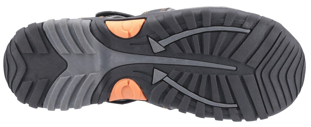 Sandhurst Touch Fastening Leisure Shoe Grey/Orange