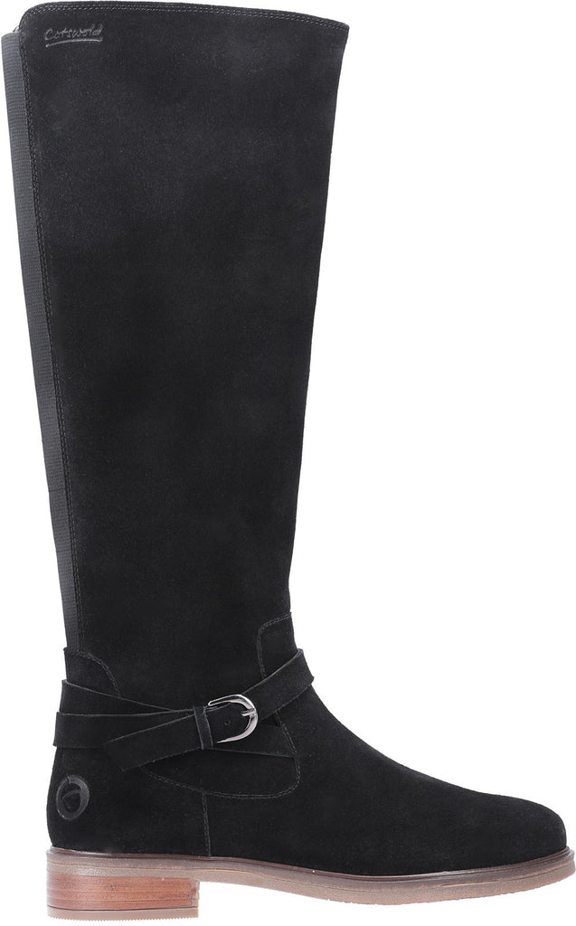 Leafield Knee High Boots Black