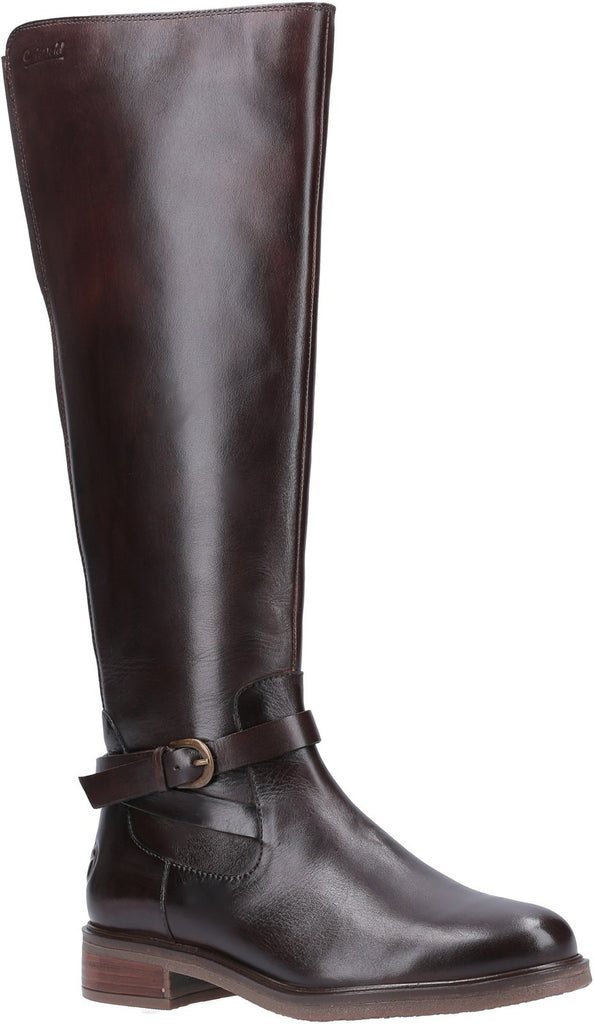 Leafield Knee High Boots Brown