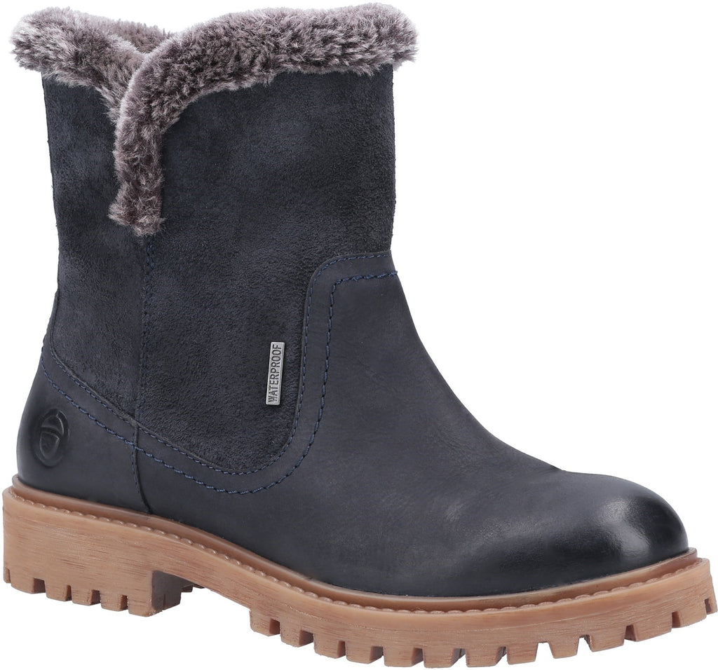 Aldestrop Fleece-Lined Boots Navy
