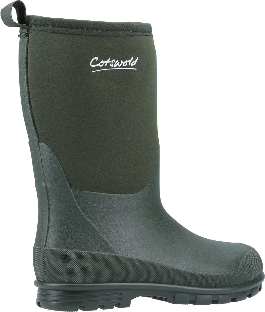 Hilly Neoprene Wellington Boot Green