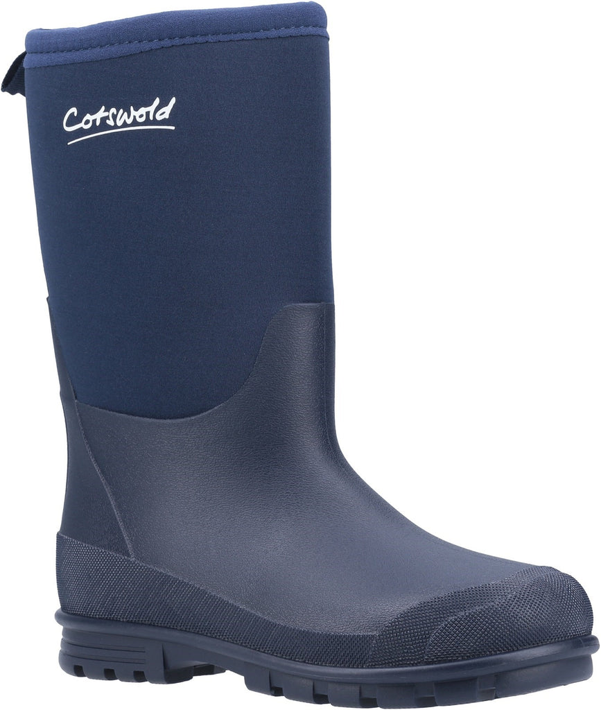 Hilly Neoprene Wellington Boot Navy