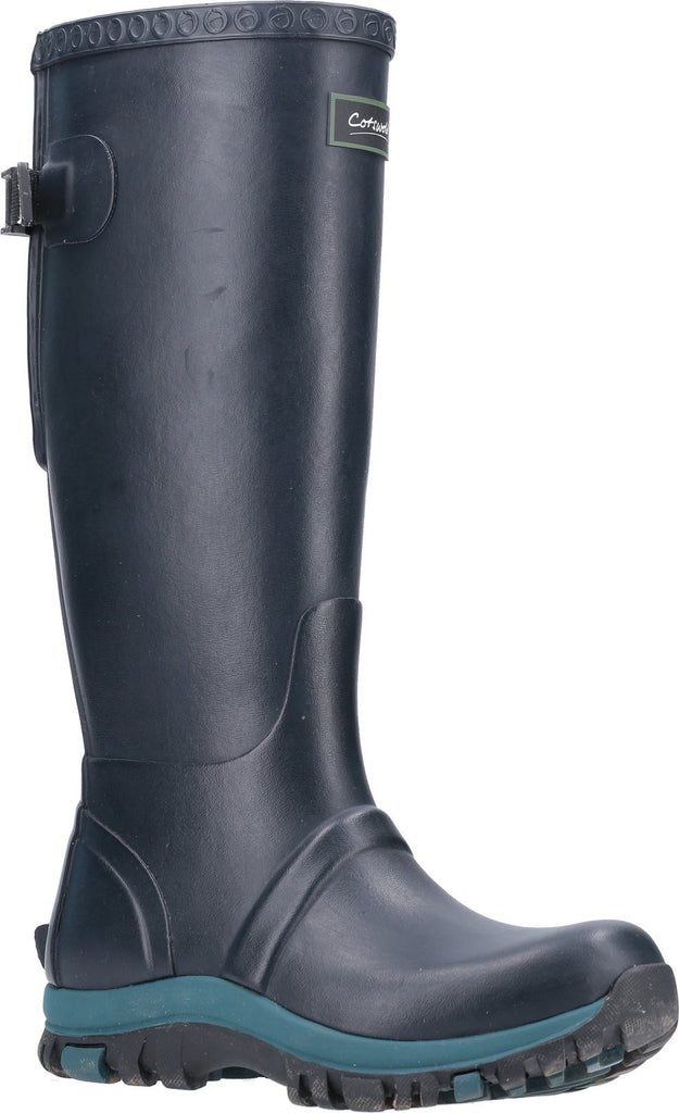 Realm Adjustable Wellington Boot Navy/Teal