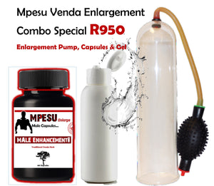 Mpesu Venda Herb Pump, Capsules & FREE Enlargement Gel Combo Special - National Male Clinic