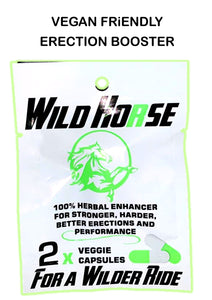 50 % Discount NEW Wild Horse VEGAN Erection Booster - National Male Clinic