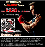 Warrior Capsules for Men STRONG ERECTION POWER - National Male Clinic