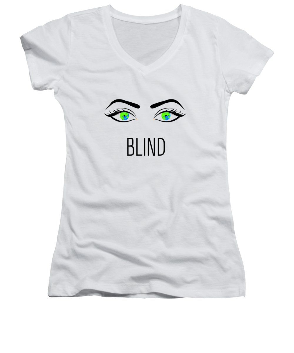 Blind - Women's V-Neck T-Shirt