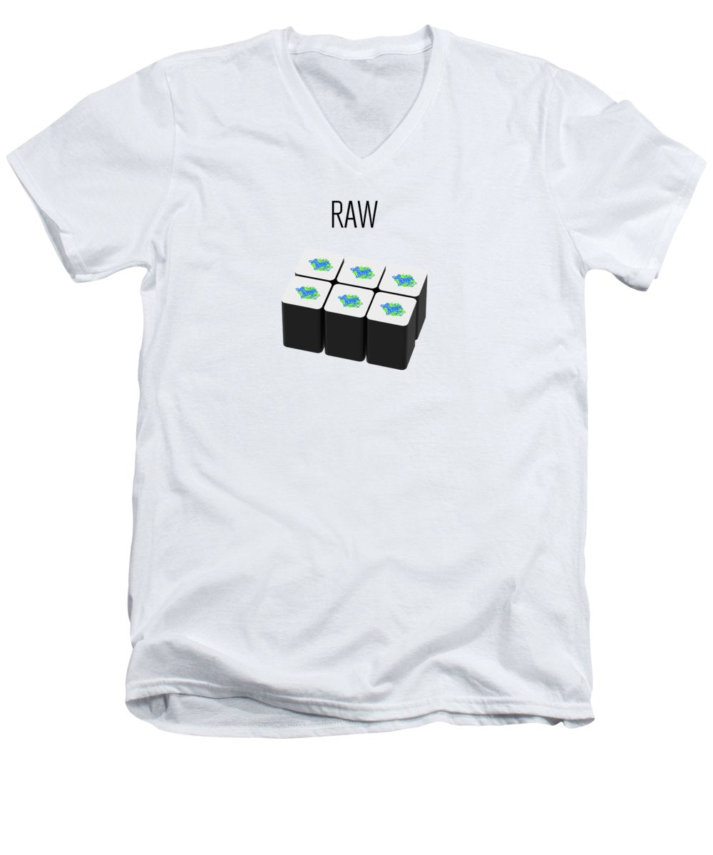Raw - Men's V-Neck T-Shirt
