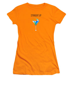Straight Up - Women's T-Shirt (Athletic Fit)