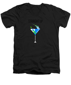 Straight Up - Men's V-Neck T-Shirt