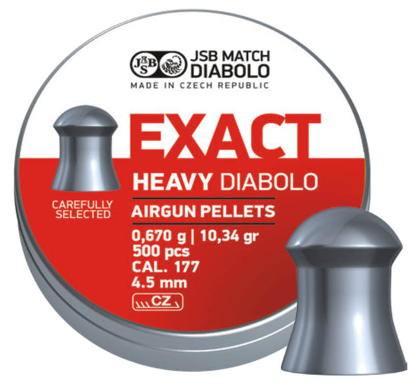 JSB  Exact Heavy Diabolo   .177 / 4.5 mm