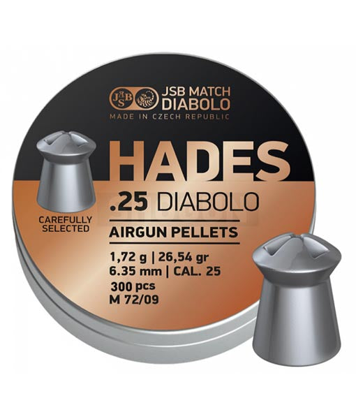 JSB Hades .25 / 6.35 mm  ( 300pcs/tin)