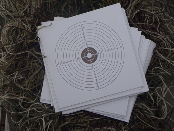 Paper Targets 14x14 (100) - ShootingTargets4Fun