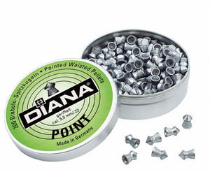 "Diana Pointed  .177"" / 4.5 mm - ShootingTargets4Fun"