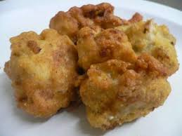 Batter Dipped Deep Fried Cauliflower