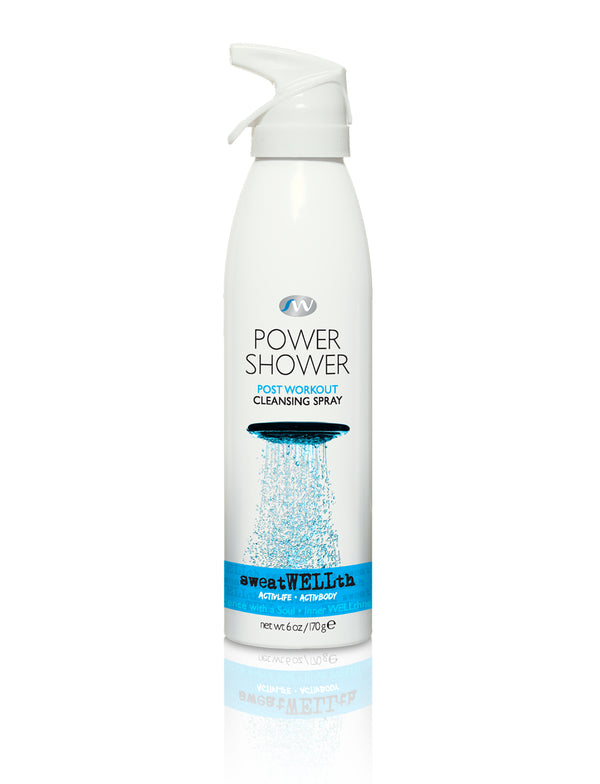 A no rinse, one-step formula, POWER SHOWER cleans without water and leaves skin cool and refreshed.