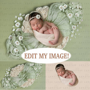 EDIT MY IMAGE : Newborn Composite Editing Background service