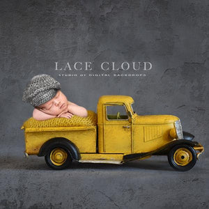 Digital newborn backdrop Yellow truck
