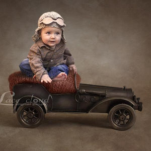 Digital newborn backdrop brown background  car