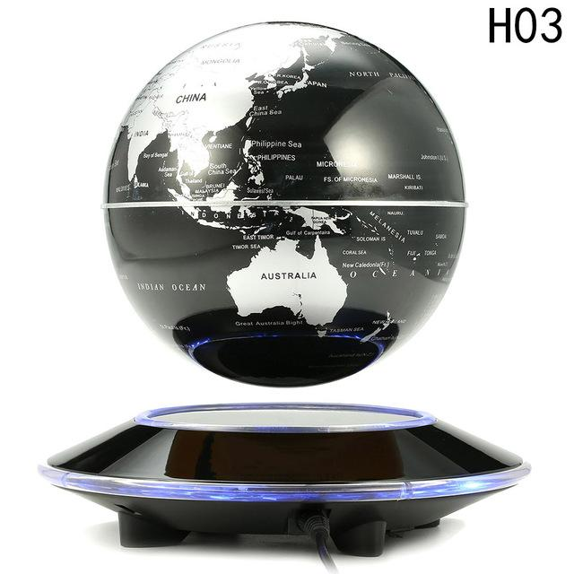 6 inch electronic magnetic levitation floating globe world map with 6 inch electronic magnetic levitation floating globe world map with led lights buy electronics online gumiabroncs Images