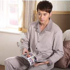 Men's Pajamas Spring Autumn Long Sleeve