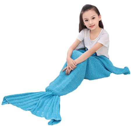 Children Yarn Knitted Mermaid Tail