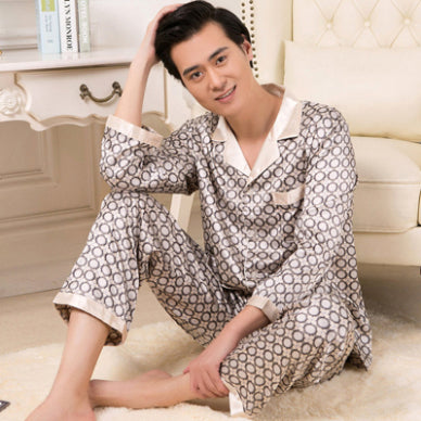Male Clothes Set Soft Pajamas