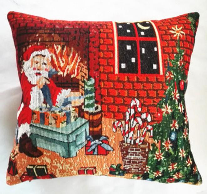 Christmas Sofa Bed Home Decoration Festival Pillow Case Cushion Cover
