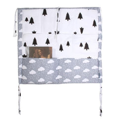 Muslin Tree Bed Hanging Storage Bag for Crib